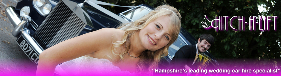 Links to Hitch-a-lift - the South coasts leading Wedding car hire specialists.